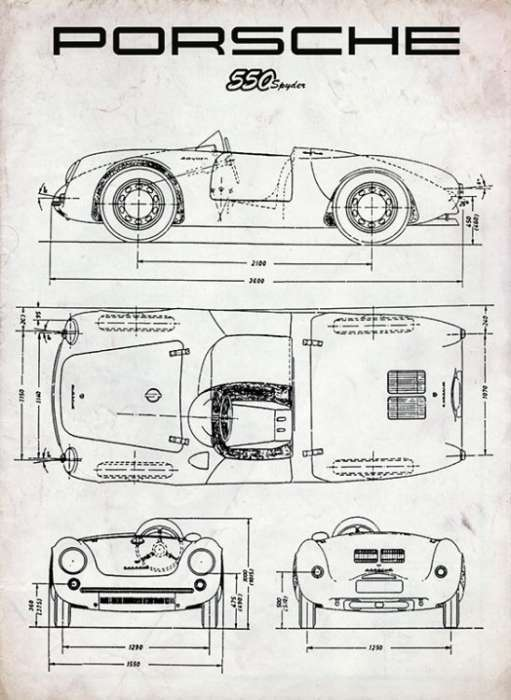 Automobile-Cars-Porsche-AUTOPosche-Framed Vintage Artwork from Interior Elements, Eagle WI