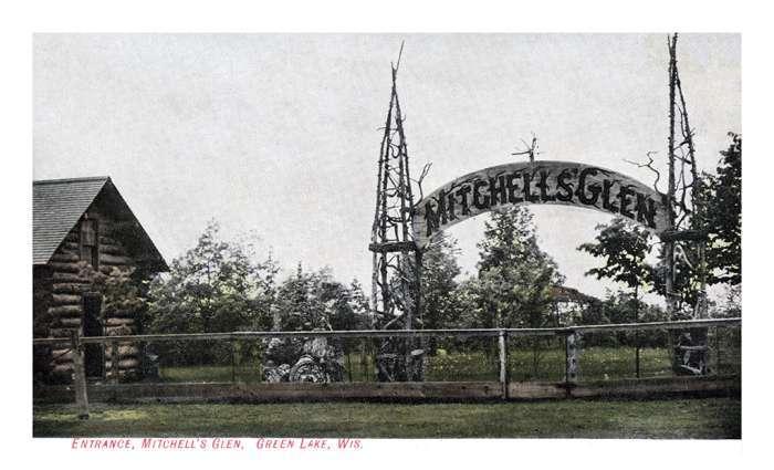 green-lake-postcard-glp1-Framed Vintage Artwork from Interior Elements, Eagle WI