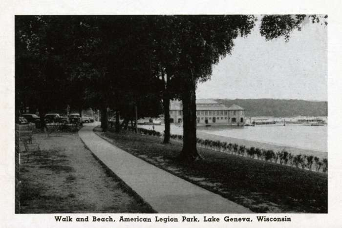 lake-geneva-american-legion-park-lgalp-Framed Vintage Artwork from Interior Elements, Eagle WI