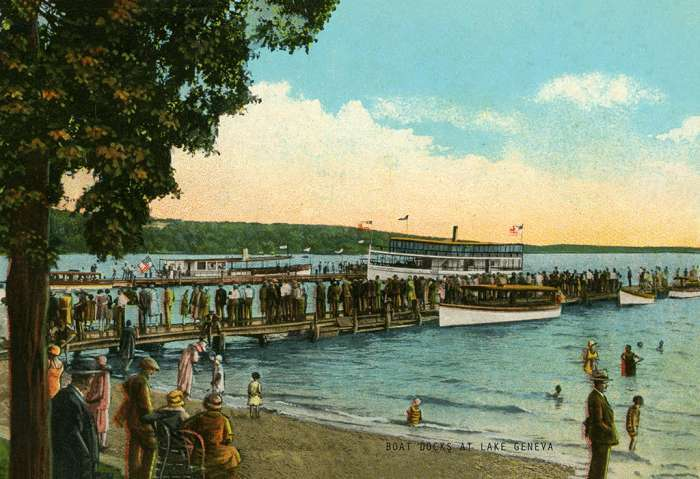 lake-geneva-boat-docks-lgbd-Framed Vintage Artwork from Interior Elements, Eagle WI