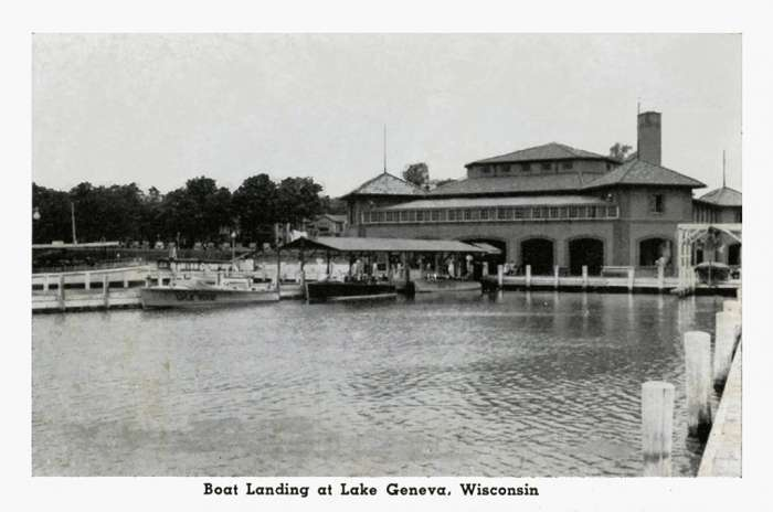lake-geneva-boat-landing-lgbl-Framed Vintage Artwork from Interior Elements, Eagle WI