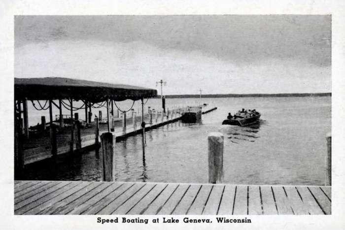 lake-geneva-boating-lgbt-Framed Vintage Artwork from Interior Elements, Eagle WI