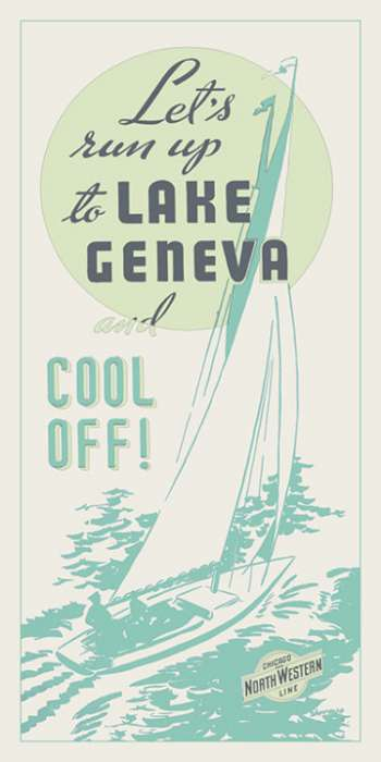 Lake-Geneva-Cool-Off-New-Colors-LGCONC-Framed Vintage Artwork from Interior Elements, Eagle WI