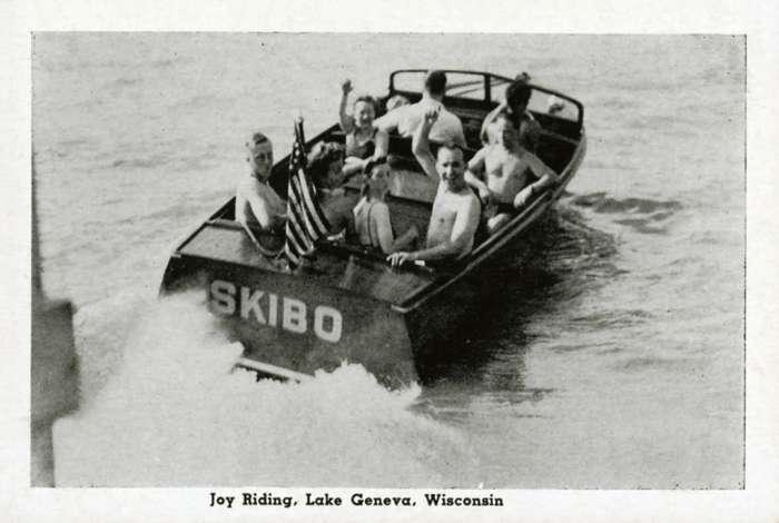 lake-geneva-joy-riding-lgjr- Framed Vintage Artwork from Interior Elements, Eagle WI