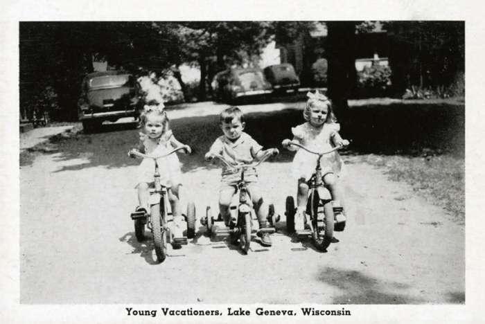 lake-geneva-kids-on-bikes-lgkob-Framed Vintage Artwork from Interior Elements, Eagle WI