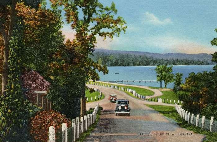 lake-geneva-lake-shore-drive-at-fontana-lsdaf-Framed Vintage Artowrk from Interior Elements, Eagle WI