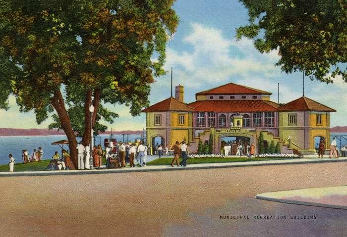 lake-geneva-municipal-recreation-building-lgmrb-Framed Vintage Artwork from Interior Elements, Eagle WI