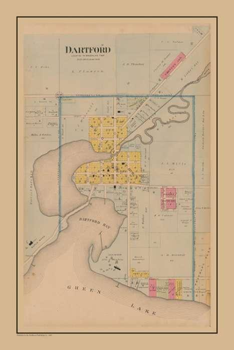 plat-map-dartford2-pmglcd2-Framed Vintage Artwork from Interior Elements, Eagle WI