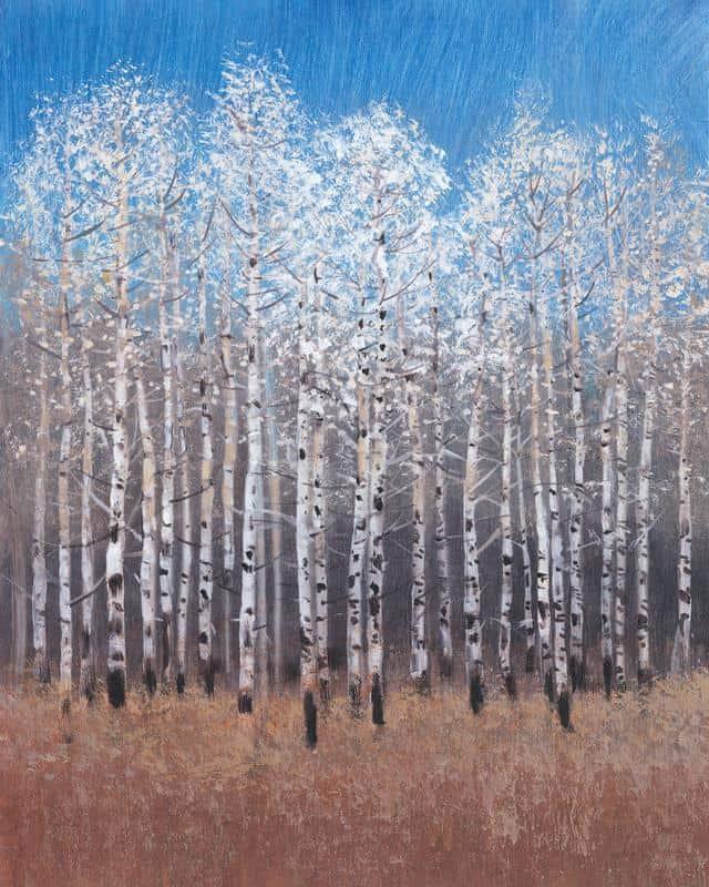 Cobalt Birches I 20x25 Framed Artwork from Interior Elements, Eagle WI