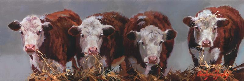 Cow Diners Club 12x36 Framed Artwork from Interior Elements, Eagle WI