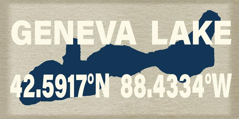 Geneva Lake Tan 12x24 Framed Artwork from Interior Elements, Eagle WI