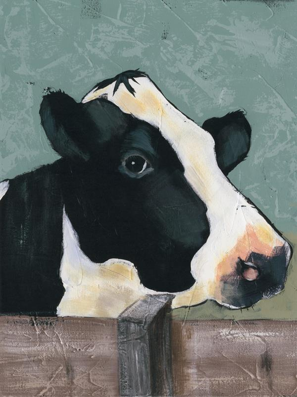 Holstein Cow 3 18x24 Framed Artwork from Interior Elements, Eagle WI