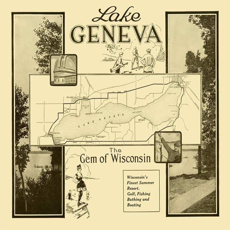 Lake Geneva Gem 20x20 Framed Artwork from Interior Elements, Eagle WI