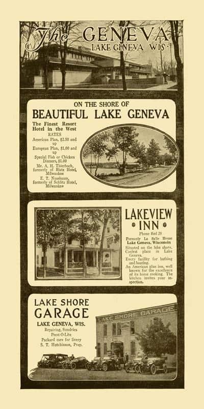Lake Geneva Gem Ads 10x20 Framed Artwork from Interior Elements, Eagle WI