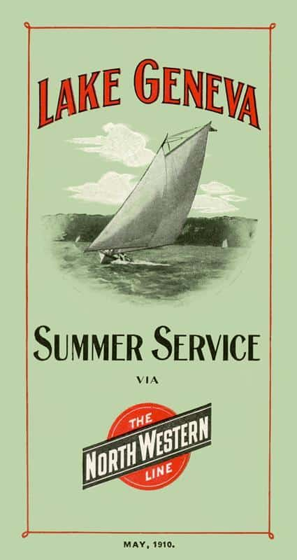 Lake Geneva Summer Service 17x32 Framed Artwork from Interior Elements, Eagle WI