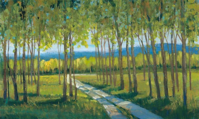 Morning Stroll II 18x30 Framed Artwork from Interior Elements, Eagle WI