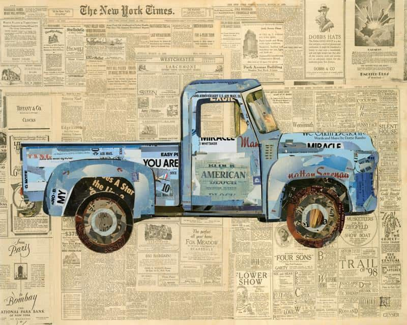 Newspaper Truck 16x20 Framed Artwork from Interior Elements, Eagle WI