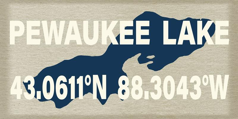 Pewaukee Lake Tan 12x24 Artwork from Interior Elements, Eagle WI