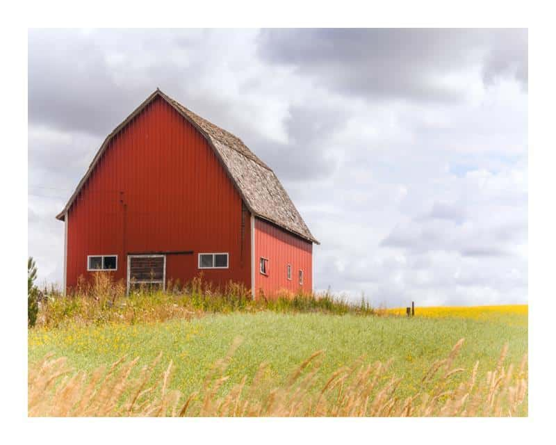 Red Barn 16x20 Framed Artwork from Interior Elements, Eagle WI