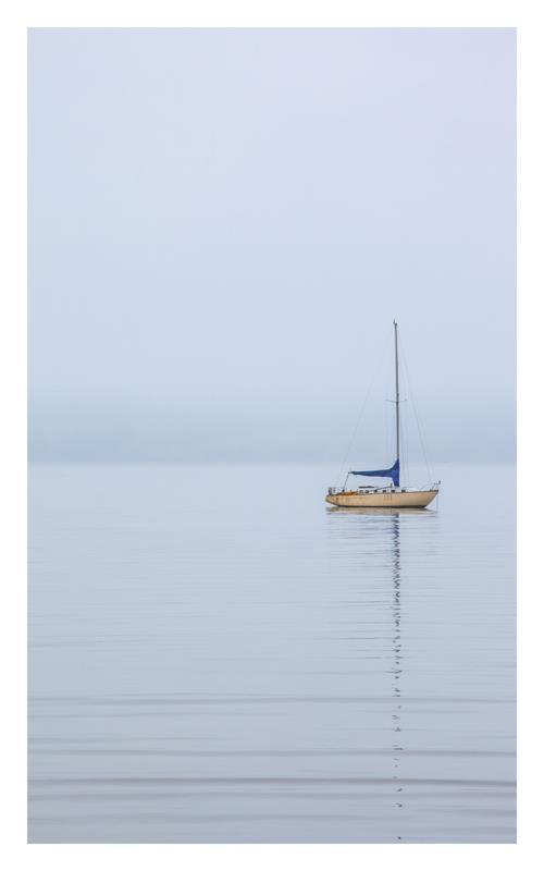 Sail Boat at Rest 20x32 Framed Artwork from Interior Elements, Eagle WI