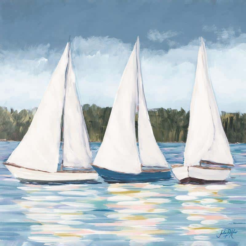 Soft Sails I 24x24 Framed Artwork from Interior Elements, Eagle WI