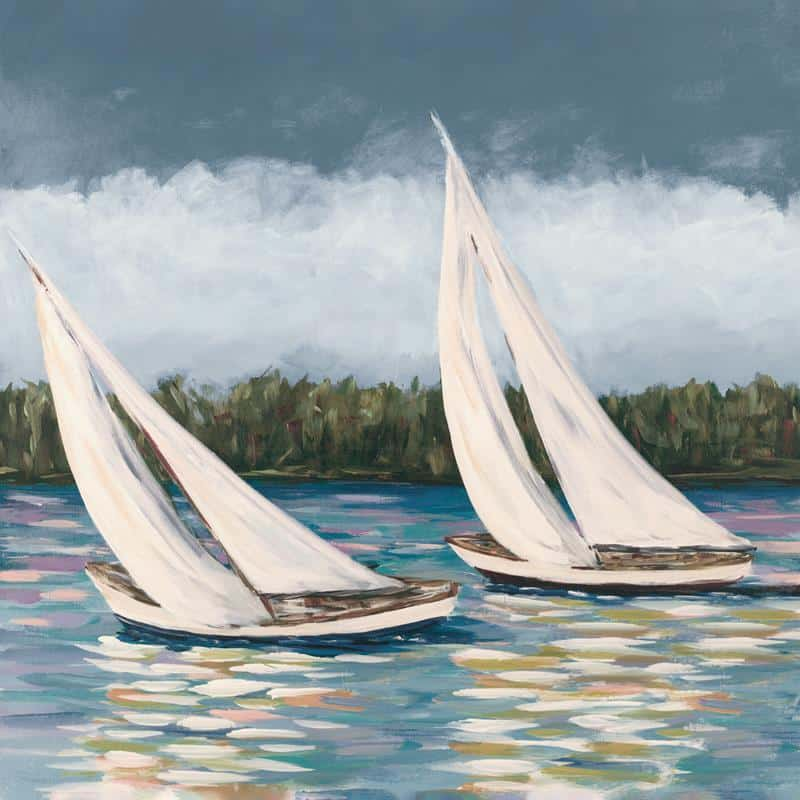 Soft Sails II 24x24 Framed Artwork from Interior Elements, Eagle WI