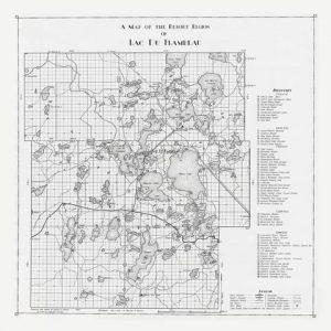 1936 Lac du Flambeau Map