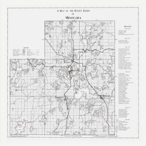 1936 Minocqua Map