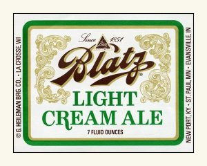 Blatz Light Cream Ale