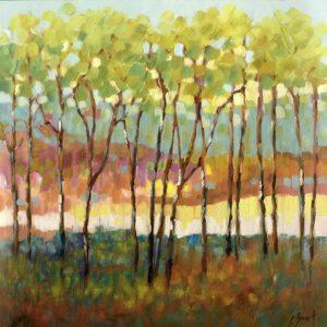 Blurry Fall Tree Landscape